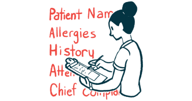 mild hemophilia | Hemophilia News Today | Illustration of healthcare worker writing on clipboard